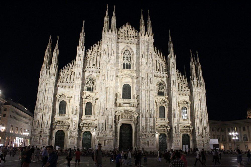 Kathedraal Milaan avond