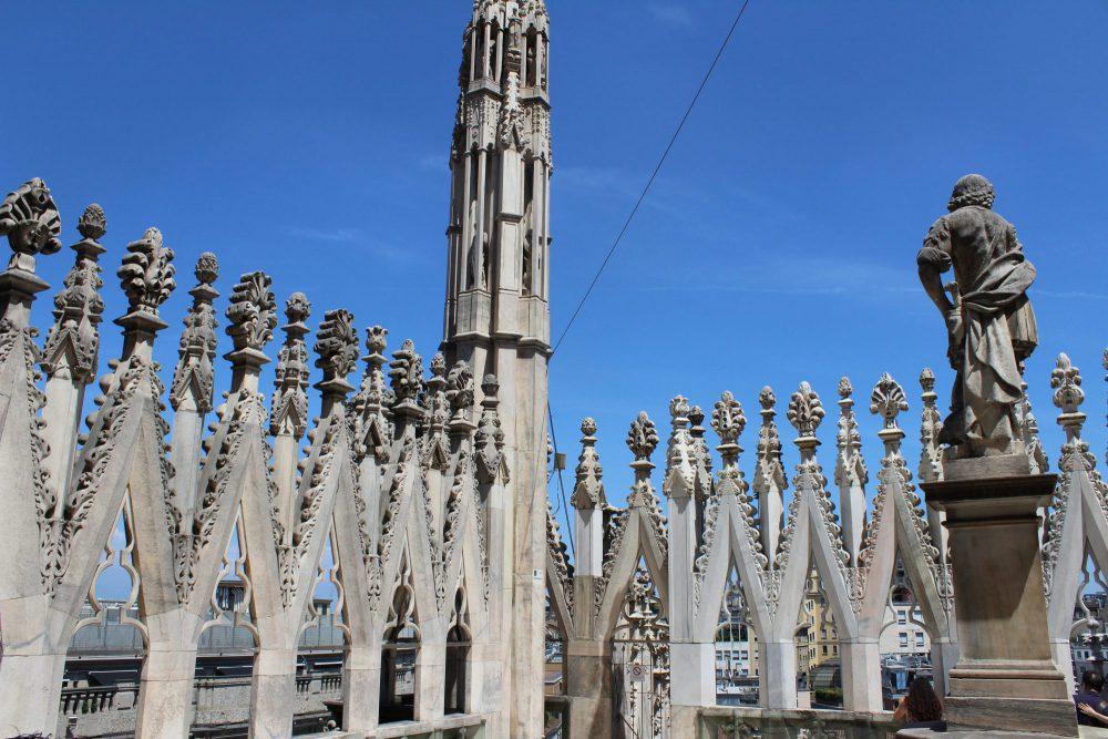 Dak kathedraal Milaan