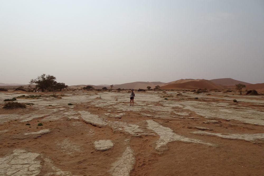 Deadvlei zoutvlaktes