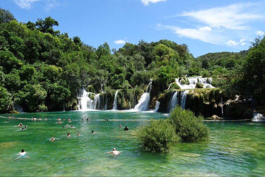 Zwemmen Skradinski Buk waterval
