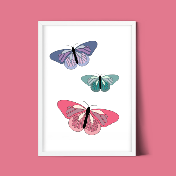 Gratis kinderkamer poster vlinders