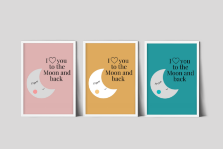 Maan poster kinderkamer - gratis download