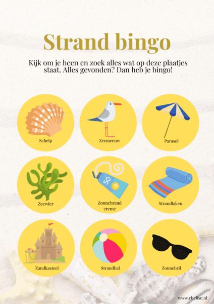 Strand bingokaart