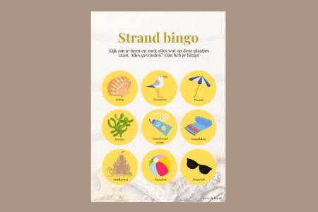 Strand bingokaart: gratis speurtocht op het strand