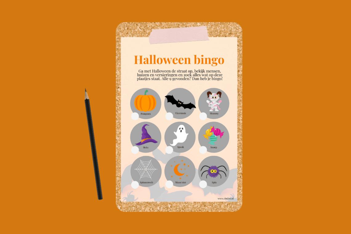 Halloween bingokaart