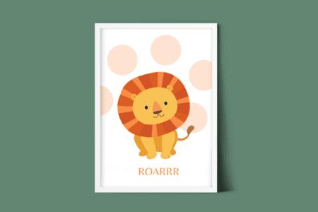 gratis kinderkamer poster leeuw